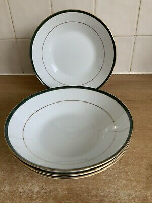 Boots Hanover Green - 4 X 19 Cm Bowls Excellent Condition • 32£