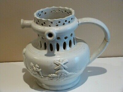 Rare 19th Century Relief Moulded Stoneware Puzzle Jug • 28£