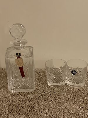 Edinburgh Crystal Thistle Decanter And Matching Glasses • 35£