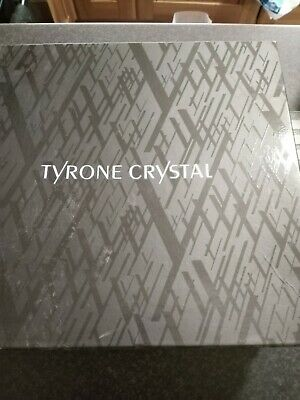 Tall Pair Of Tyrone Crystal Dungannon Wine Glasses 28 Cm .Never Used In Box • 40£