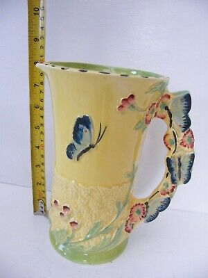 1930's/40's BURLEIGH JUG WITH A    BUTTERFLIES  HANDLE 4 0f 7 • 65£