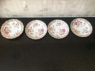 4 Brama Bone China Saucers Made In England • 4£