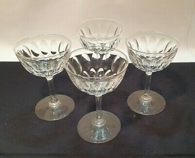 Crystal Glasses, Champagne Coupe, Set Of Four. Excellent Condition • 10£