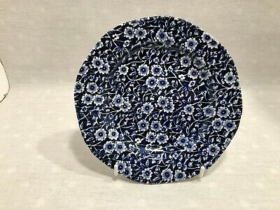 2 X BURLEIGH BLUE AND WHITE CALICO SIDE PLATES 7 1/2  • 12.50£