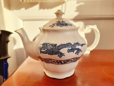 Vintage Booths Blue And White Dragon Design Teapot  • 4£