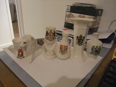 Superb Collection Of Six  Pieces Of Crested China   • 9.99£