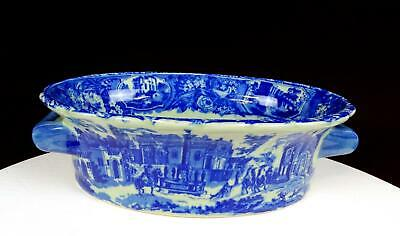 Victoria Ware Ironstone Flow Blue Scenic Township Pattern 9  Foot Bath • 39.36£