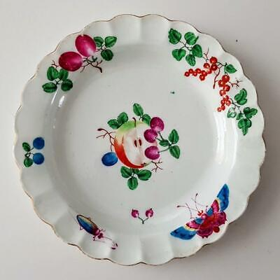Fine Antique 18th Century Chelsea Porcelain Fruit & Insects Plate C1765 • 9.95£