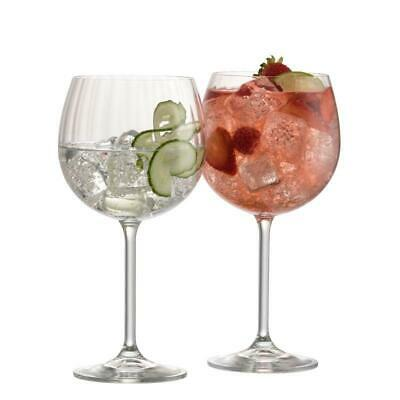 Galway Crystal Living Erne Gin And Tonic Pair Of Glasses • 24.99£