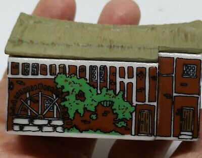 Vintage Wade Whimsey-on-Wye #14 Water Mill Miniature Village Ornament Whimsie • 9.99£