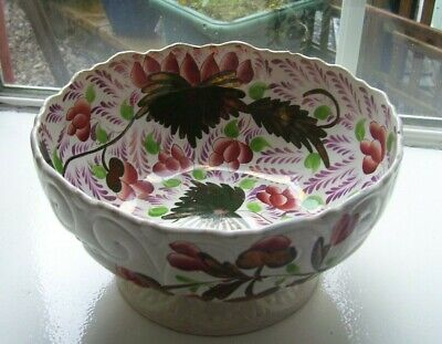 Decorative Gaudy Welsh Large Bowl A/f • 58£