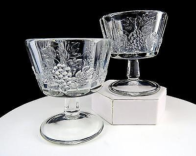Westmoreland #1881 Paneled Grape Clear 2 Piece Panel Stem 3 3/4  Low Sherbets • 13.86£