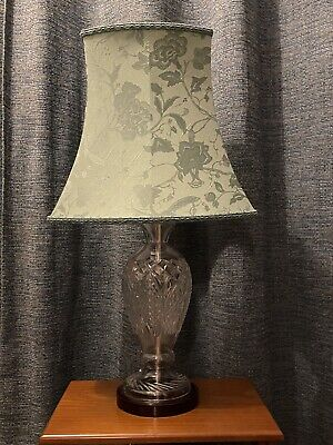 Genuine Galway Glass Crystal Light Lamp & Shade Excellent Condition • 40£