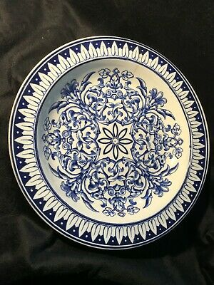 Teutonic Blue And White Plate • 20£