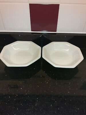 Johnson Brothers Heritage White Fruit Bowls/Saucers X 2 • 12£