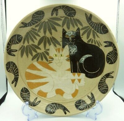 11  Vintage Irma Demianczuk Bowl Signed & Dated Scottish Studio Pottery Cats  • 49.99£