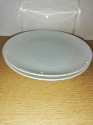 Thomas China White Tea Plates X 2 Approx 17cm Diameter • 5£
