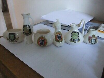 Delightful Collection Of Six  Pieces Of Crested China  All Grantham  • 5.99£