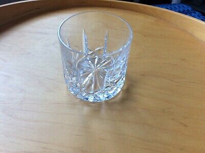 Tyrone Crystal Whiskey Glass / Tumbler CUT UNKNOWN NEW STAMPED (3″) Tall NO BOX • 6.99£