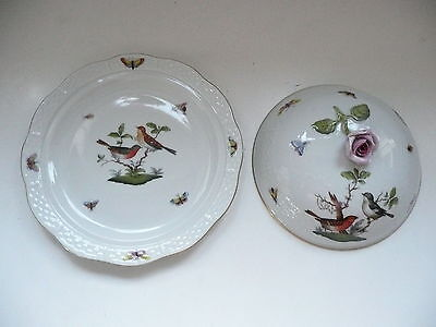 Herend Porcelain Covered Muffin Dish - Rothschild RO Pattern • 110£