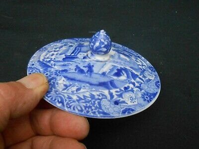 Rare Early Blue & White ** SPODE ITALIAN ** Replacement Chocolate Pot Lid • 14.99£