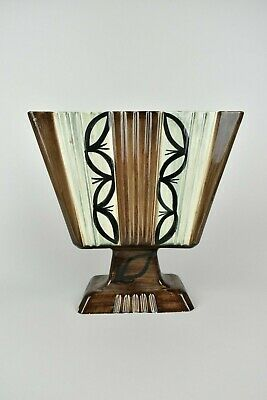 Jersey Pottery; A Large Art Deco Style Planter/Vase, Hand Painted Decoration • 11.90£