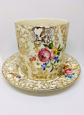 Lord Nelson Ware Cup And Saucer Gold Chintz Pattern Vintage • 39.95£