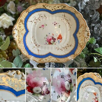 Samuel Alcock Plate Serving Dish With A Hand-painted Floral Bouquet C:1835 • 49.99£