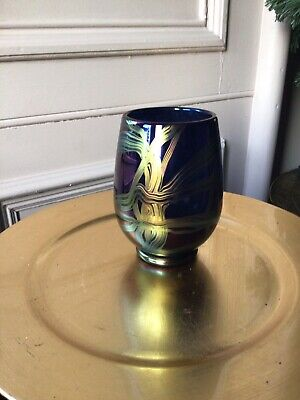 "Stunning ""ribbon"" Vase By Isle Of Wight Glass In Immaculate Condition • 66£"