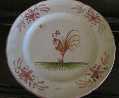 Vintage French Hand Painted Cockerel Plate • 1.99£