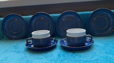 Denby Cups And Saucers Chatsworth • 3£