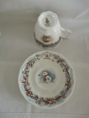 Royal Doulton Brambly Hedge Winter Tea Cup And Saucer • 15£
