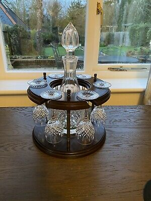 Stuart Crystal Shaftesbury Decanter 6 Port / Sherry Glasses And Wooden Stand Set • 180£