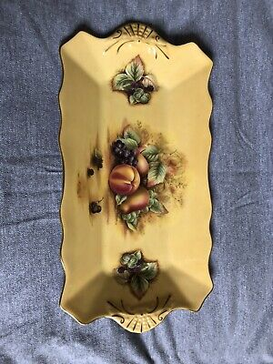 Aynsley China Orchard Gold Fruits, Sandwich Tray Plate • 12.99£