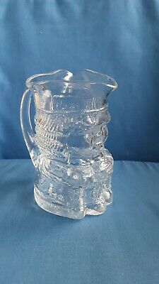 Whitefriars  Clear  Glass  Toby  Jug • 7.99£