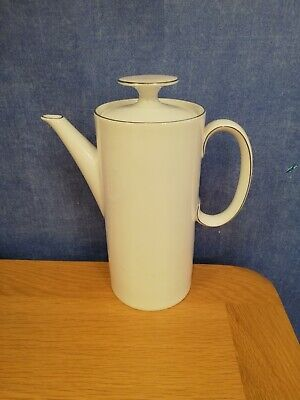 Thomas China Thin Platinum/Silver Band Coffee Pot ,Approx 22cm Tall.  • 10£