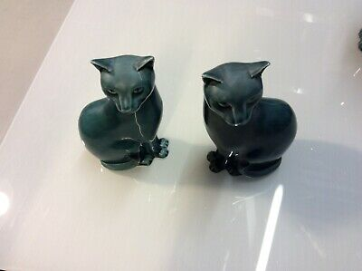 Poole Pottery Figurines. Cats. 2 X Small • 15£