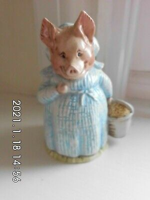 Beswick Beatrix Potter Aunt Pettitoes BP2 Gold Oval Stamp • 21.99£