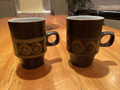 Denby Arabesque Two Tall Coffee Cups • 20£