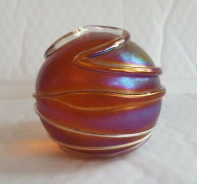 A Stuning Large Hevy Signed John Ditchfield Glassform Peper Weight 8cm High AF • 29.99£