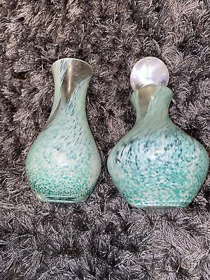 Rare Caithness Glass Perfume Bottle With Stopper - And Vase • 5£