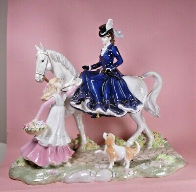 Coalport Figure Group  A Flower For My Lady  - Perfect  • 2,000£