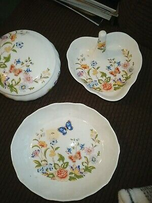 3 Ansley Cottage Garden Prices - Ring Dish, Oval Dish And Covered Dish • 4£