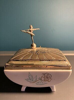 Rosenthal Musical Box Wind-up Ballerina Silver Plated   Bavaria Germany • 65£