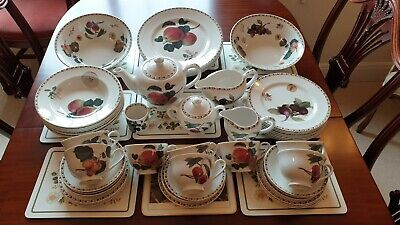 Queens Hooker Fruit Fine China Mint. Food Dining Kitchen Crockery Cooking Plates • 99£