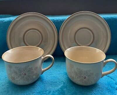 2 Denby Sandalwood Cups And Saucers • 3.09£