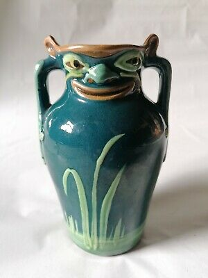 Late Victorian Grotesque Aller Vale Pottery Vase • 200£
