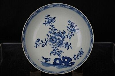 Fine Antique 18/19thC Hand-painted Blue And White Porcelain Dish • 9.99£