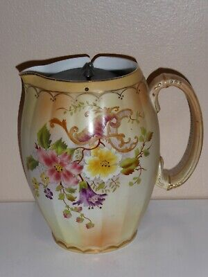 Carlton Wiltshaw & Robinson Blush Ware Jug With Removable Pewter Lid C1895 • 20£