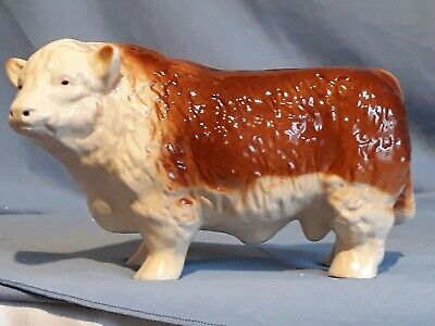 Coopercraft Hereford Bull. Vintage 1980's. In Nice Condition. • 20£